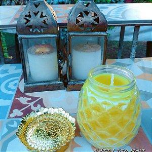 Vela aromática abacaxi