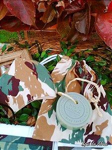 """Kit masculino máscara + sabonete """"camuflagem"""""""