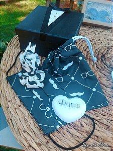 "Caixa ""Black Tie"" (sachê, máscara, sabonete, embalagem)"