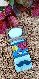 Kit toalha de mão esporte + sabonetes