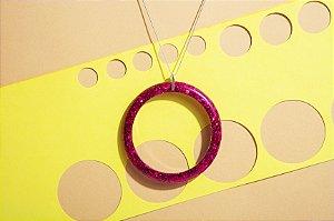 Colar Círculo - Pink