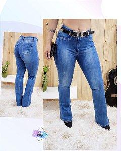 Calça Blue Jeans Flare