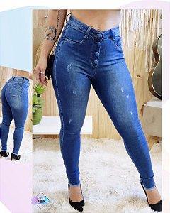 Calça jeans botões encapados Valentin