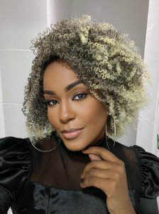 Wig Black Loiro - Sleek