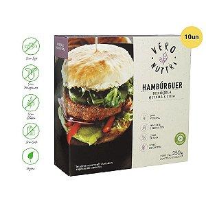 Hambúrguer Vegetal Vero Nuttri Berinjela, Quinoa e Chia 250g (Cx. c/ 10un)