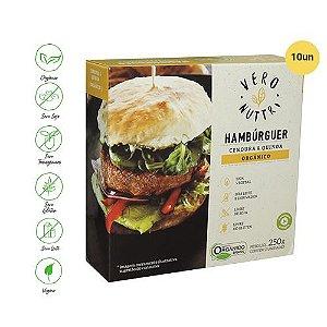 Hambúrguer Vegetal Vero Nuttri Cenoura e Quinoa Orgânico 250g (Cx c/ 10un)