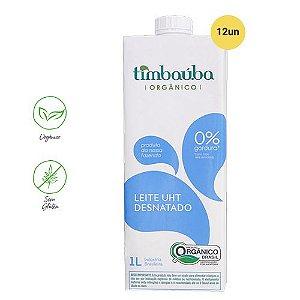 Leite Timbaúba UHT Desnatado Orgânico 1L (Cx /12un)
