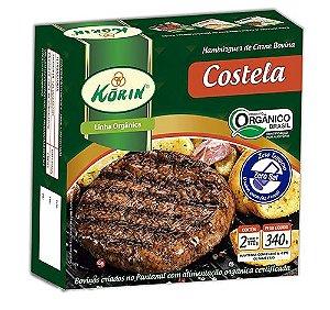 Hambúrguer bovino de costela orgânica 340g Korin