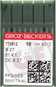 AGULHA DCX27 12 Marca: Groz Beckert / Modelo: DCx27 12