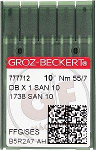 AGULHA DBX1 07 (SAN 10) Marca: Groz Beckert / Modelo: DBx1 07 San 10