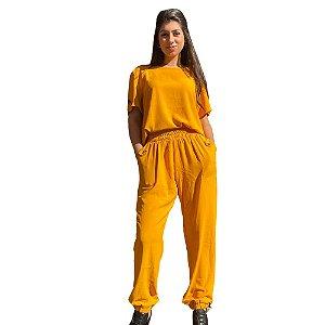 Conjunto Feminino Calça Jogger e Blusa em Viscose