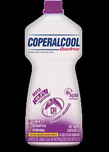 Coperalcool Bacfree 46 INPM Lavanda Oriental 1L - Caixa com 12 Unidades