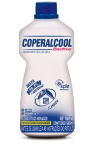 Coperalcool Bacfree 46 INPM Tradicional 500ml - Caixa com 12 Unidades