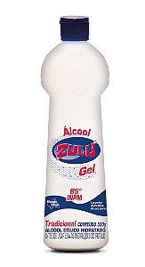 Álcool Gel Zulu 65 INPM Tradicional 500g - Caixa com 12 Unidades