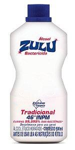 Álcool Zulu Evolution 46 INPM Tradicional 500ml - Caixa com 12 Unidades
