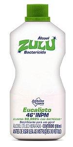 Álcool Zulu Evolution 46 INPM Eucalipto 500ml - Caixa com 12 Unidades