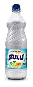Água Sanitária Zulu 1 Litro - Caixa com 12 Unidades