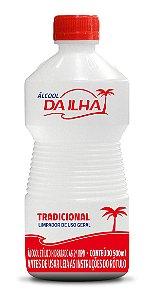 Álcool Da Ilha 46 INPM Tradicional 500ml - Caixa com 24 Unidades
