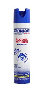 Álcool Aerossol 70 INPM Coperalcool BacFree Clássico 360ml - Caixa com 12 Unidades