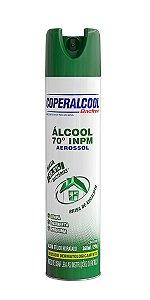 Álcool Aerossol 70 INPM Coperalcool BacFree Brisa de Eucalipto 360ml - Caixa com 12 Unidades