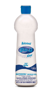 Álcool Gel Zulu 70°INPM Bactericida 500g
