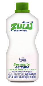 Álcool Zulu Evolution 46°INPM Eucalipto 500ml