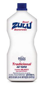 Álcool Zulu Evolution 46°INPM Tradicional 1 Litro