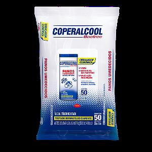 Panos Umedecidos Coperalcool Bacfree 70°INPM Embalagem Econômica Clássico 50 Panos