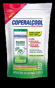 Refil Panos Umedecidos Coperalcool Bacfree 70INPM - Brisa de Eucalipto - 35 Panos
