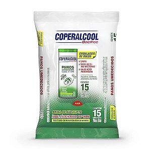 Panos Umedecidos Coperalcool Bacfree 70INPM Embalagem de Bolso - Eucalipto - 15 Panos
