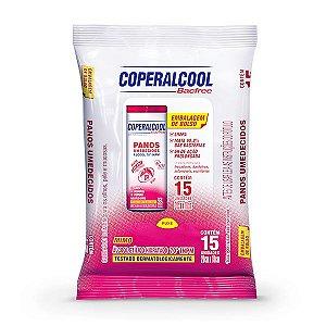 Panos Umedecidos Coperalcool Bacfree 70INPM Embalagem de Bolso - Mimo - 15 Panos