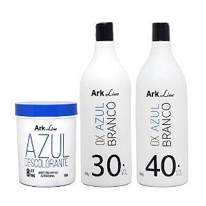 1 PÓ DESCOLORANTE AZUL 500G + 2 OX AZUL BRANCO