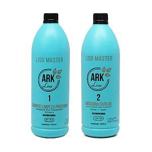 Novo Liso Master Passo 2 + Shampoo Anti Resíduos Passo 1