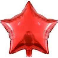 Balão Metalizado Formato Estrela 45cm de Altura Cor Sortida R.ydh.2127 Unidade
