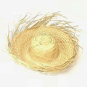 Chapéu De Palha Desfiado Diâmetro 19cm x 19cm R.CC008 Unidade