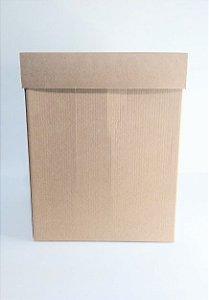 Caixa Acoplada Kraft Para Presente Tamanho Extra G 30cm Altura x 23,5cm Largura R.4247 Unidade