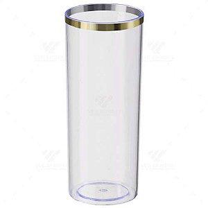 Copo Long Drink Transparente Com Borda Dourada 300ml R.1071 Unidade