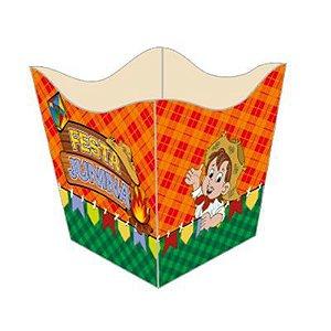 Cachepo Pequeno De Papel Cartão Festa Junina e Arraiá 8,5cm Largura x 7 Cm Altura R.611 Pacote Com 10