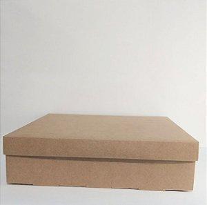 Caixa Duplex Kraft Para Presente Tamanho GG  35,5cm Comprimento x 35,5cm Largura x 9cm Altura R.4119 Unidade
