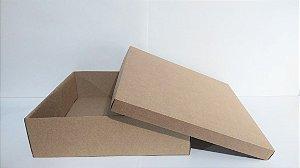 Caixa Duplex Kraft Para Presente Tamanho XG 38cm Comprimento x 38cm Largura x 12cm Altura R.4120 Unidade