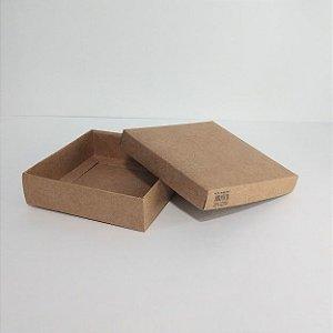 Caixa Duplex Kraft Para Presente Tamanho PP 13,5cm Comprimento x 13,5cm Largura x 04cm Altura R.3954 Unidade
