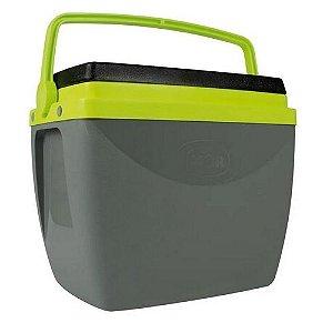 Caixa Térmica Mor Cinza Com Verde 18 Litros Unidade