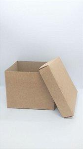 Caixa Acoplada Kraft para Presente Tamanho P R.4122 12cm Altura x 15cm Largura Unidade