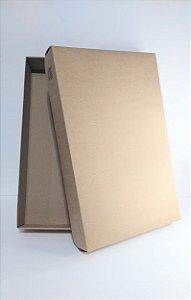 Caixa Camisa Kraft Para Presente Tamanho R.4090 5,5cm Altura x 39cm Largura Unidade