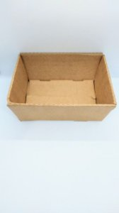 Cesta Em Papel Kraft para Presente Tamanho Médio R.4137 22cm Largura x 8,5cm Altura Unidade