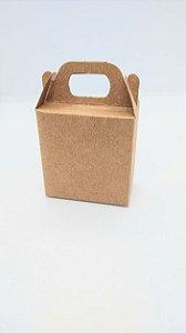 Caixa Kraft Com Alça para Presente R.4132 Tamanho Pp 6cm Largura x 6cm Altura Unidade