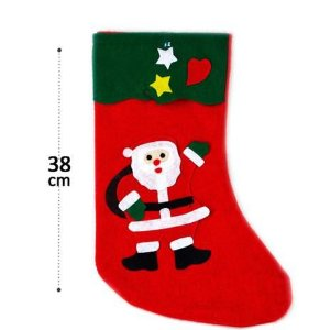 Bota Papai Noel em Feltro 38cm Altura R.H-005 Unidade