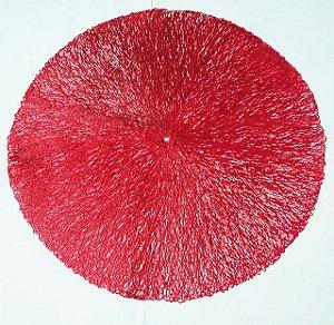 Jogo Americano Decorativo Cor Sortida Material em PVC ( vermelho, rose ou prata) 38cm Diâmetro R.RMT8975 Vendido a Unidade Separadamente