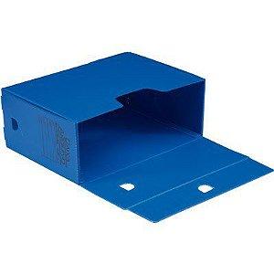Caixa Arquivo Morto Fácil Novaonda Polibrás Azul 350mm x 130mm x 250mm Unidade
