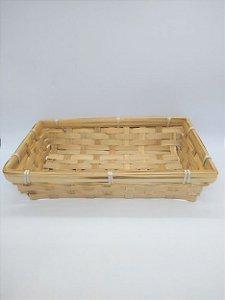 Cesto de Bambu 25cm Comprimento x 15cm Largura 5cm Altura R.HX8107 Unidade